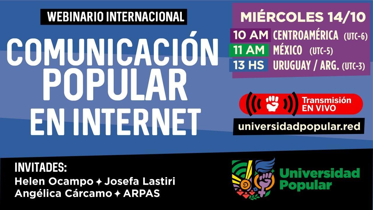Webinario Comunicación Popular en Internet