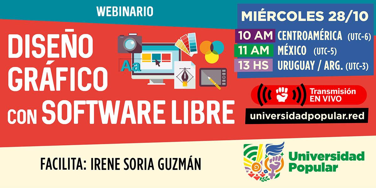 Webinario de diseño gráfico con software libre. Facilita Irene Soria Guzmán.