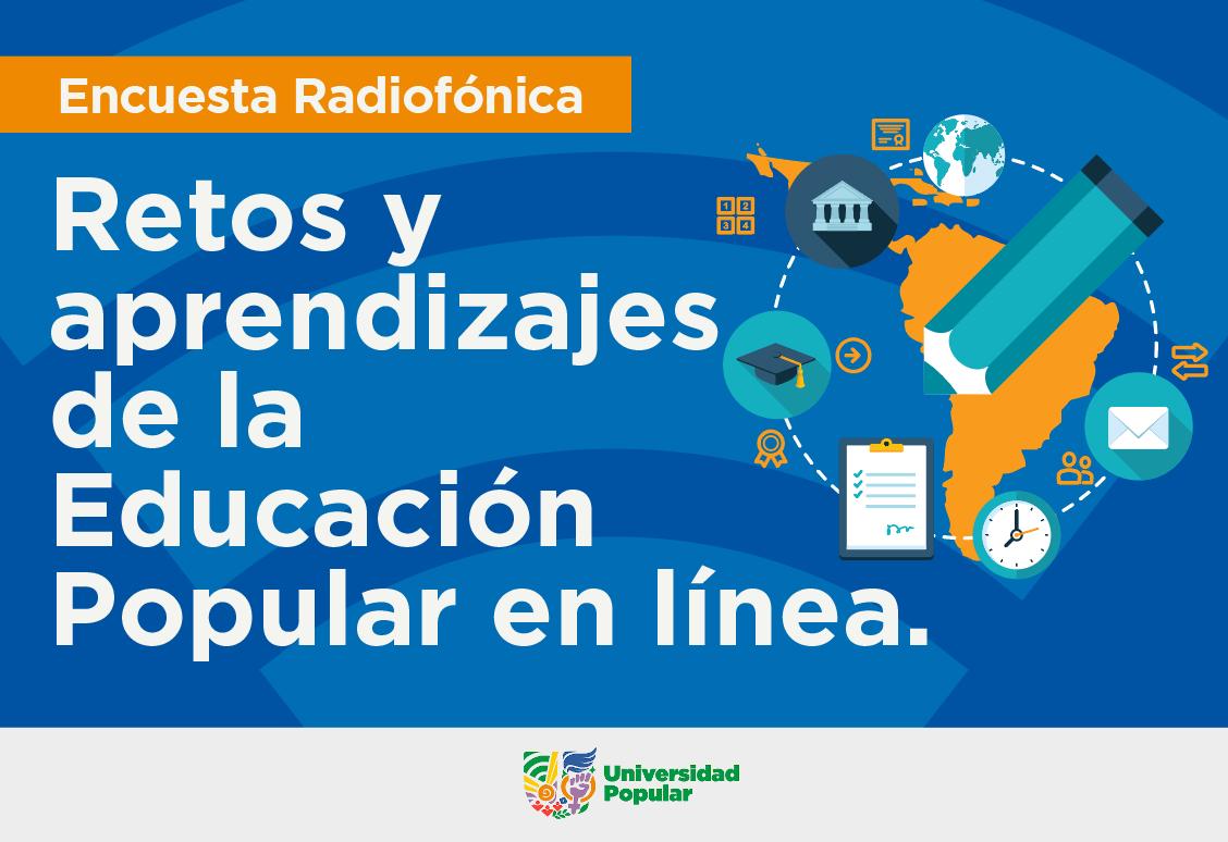 Flyer del podcast Retos y aprendizajes de la educación popular en línea
