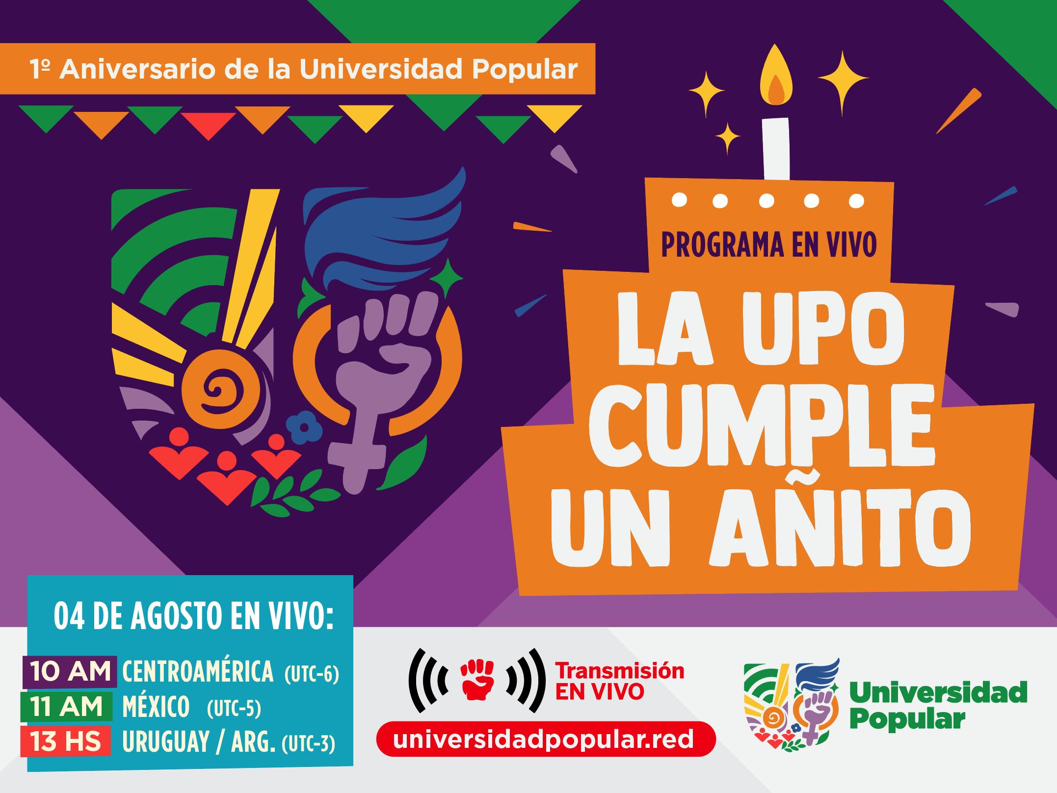 Primer aniversario de la Universidad Popular